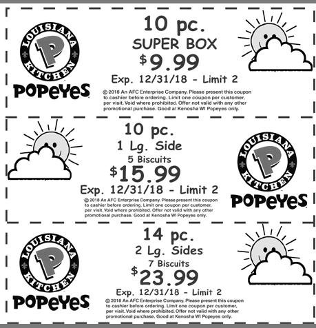 photo relating to Popeye Coupons Printable titled PopeyesPopeye