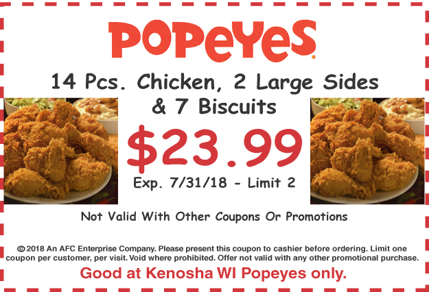 image relating to Popeyes Coupon Printable titled Popeyes price ranges 2019 / Van heusen outlet coupon
